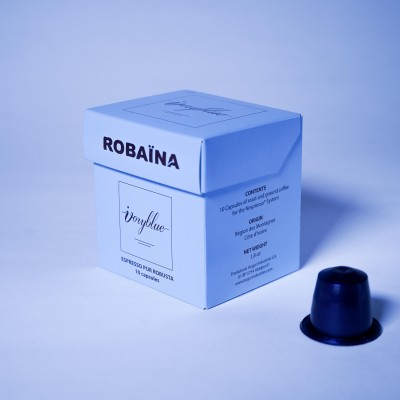Ivoryblue Caffé - Pur Robusta Robaïna - Promotion Pack de 5 Boîtes
